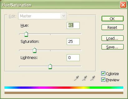 Choosing a hue