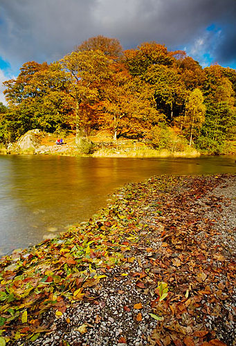 autumn leaves on grasmere