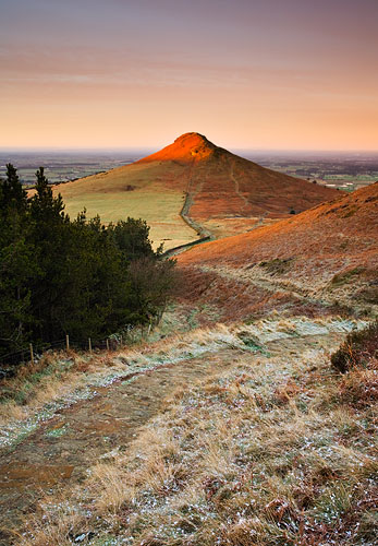 first light on roseberry topping