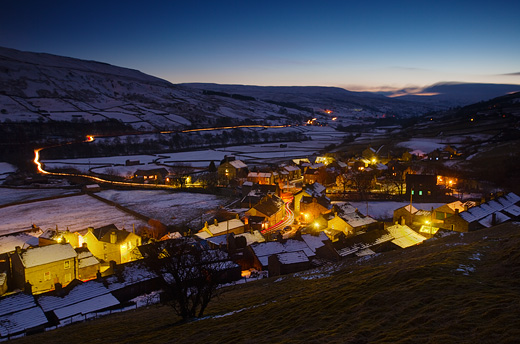 winter dusk at gunnerside