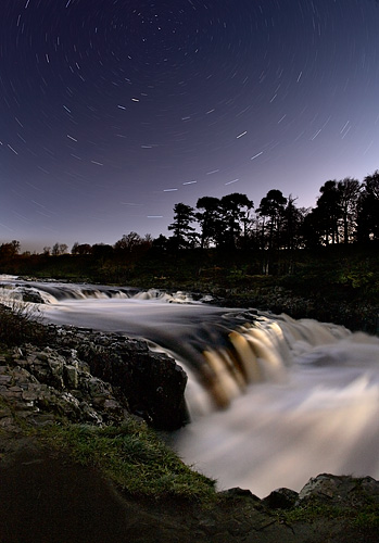 moon rise over low force