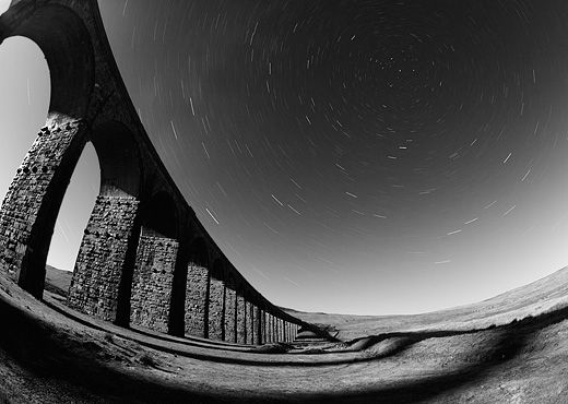 Ribblehead Viaduct by Moonlight